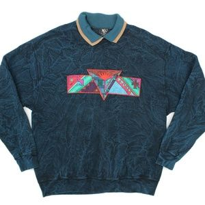 VTG Early Man Images Tribal Abstract Sweatshirt